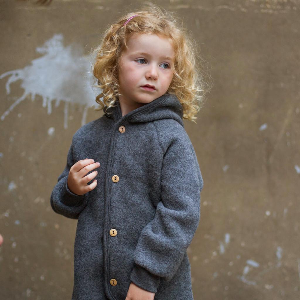 børnejakke økologisk uld